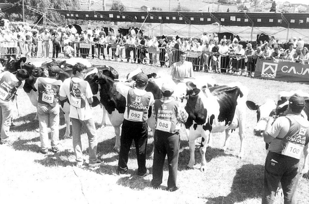 Feria de ganado de Igollo en 1993.